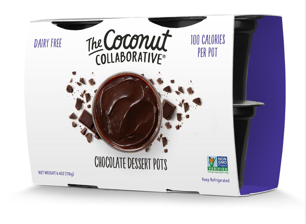 Coconut collaborative chocolate pudding