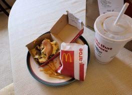 McDonald's bag on the counter
