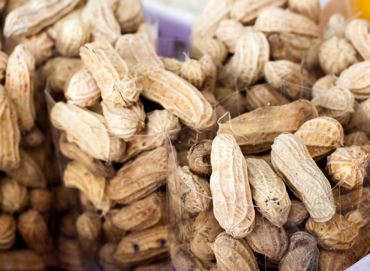 Bags boiled peanuts