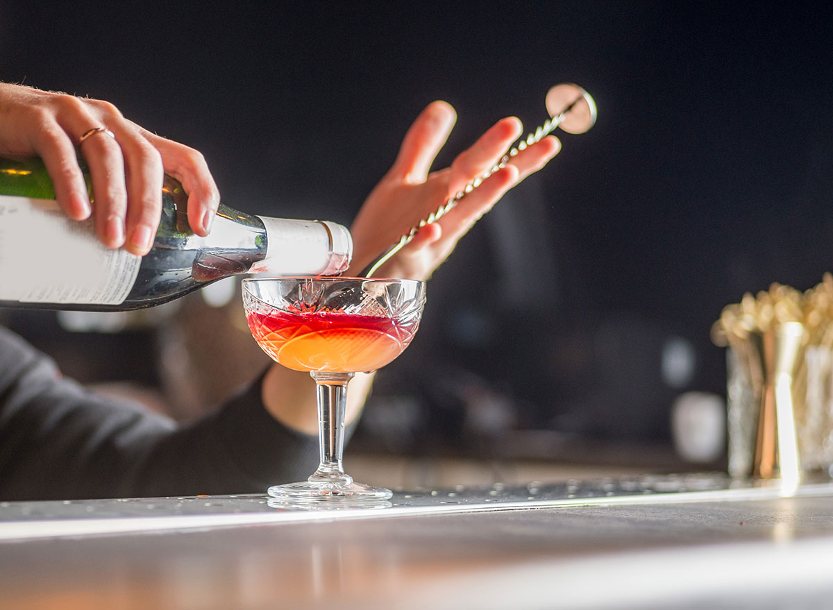 bartender making drink