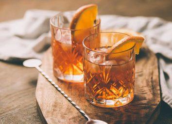 cocktails with orange
