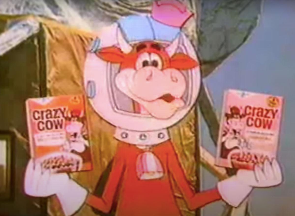 cartoon crazy cow cereal
