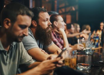crowded bar seats