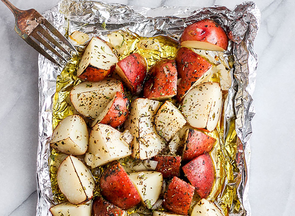 foil pack red potatoes
