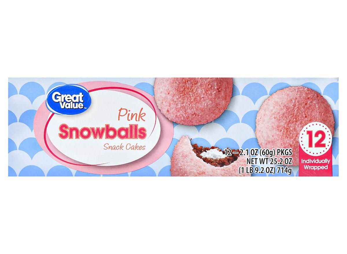 great value pink snowballs