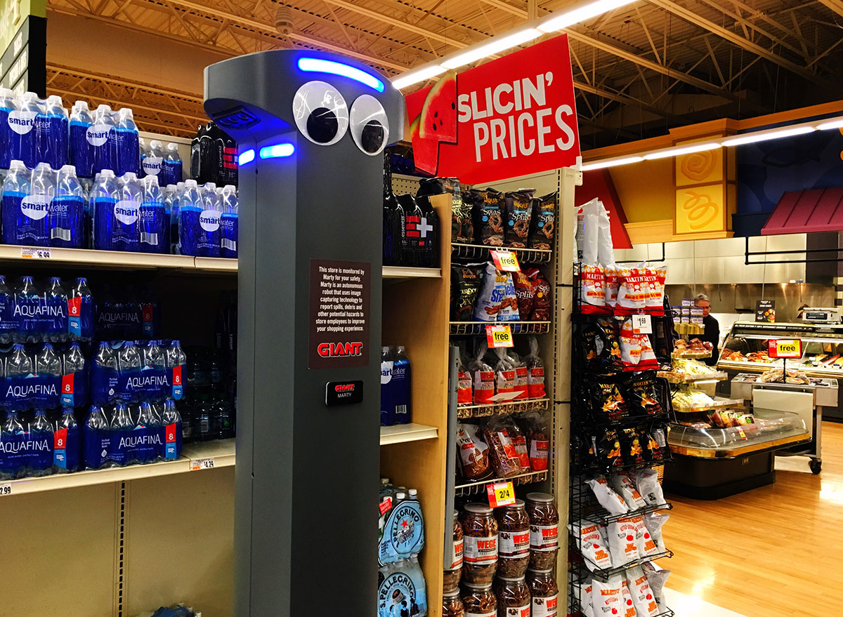grocery store robot