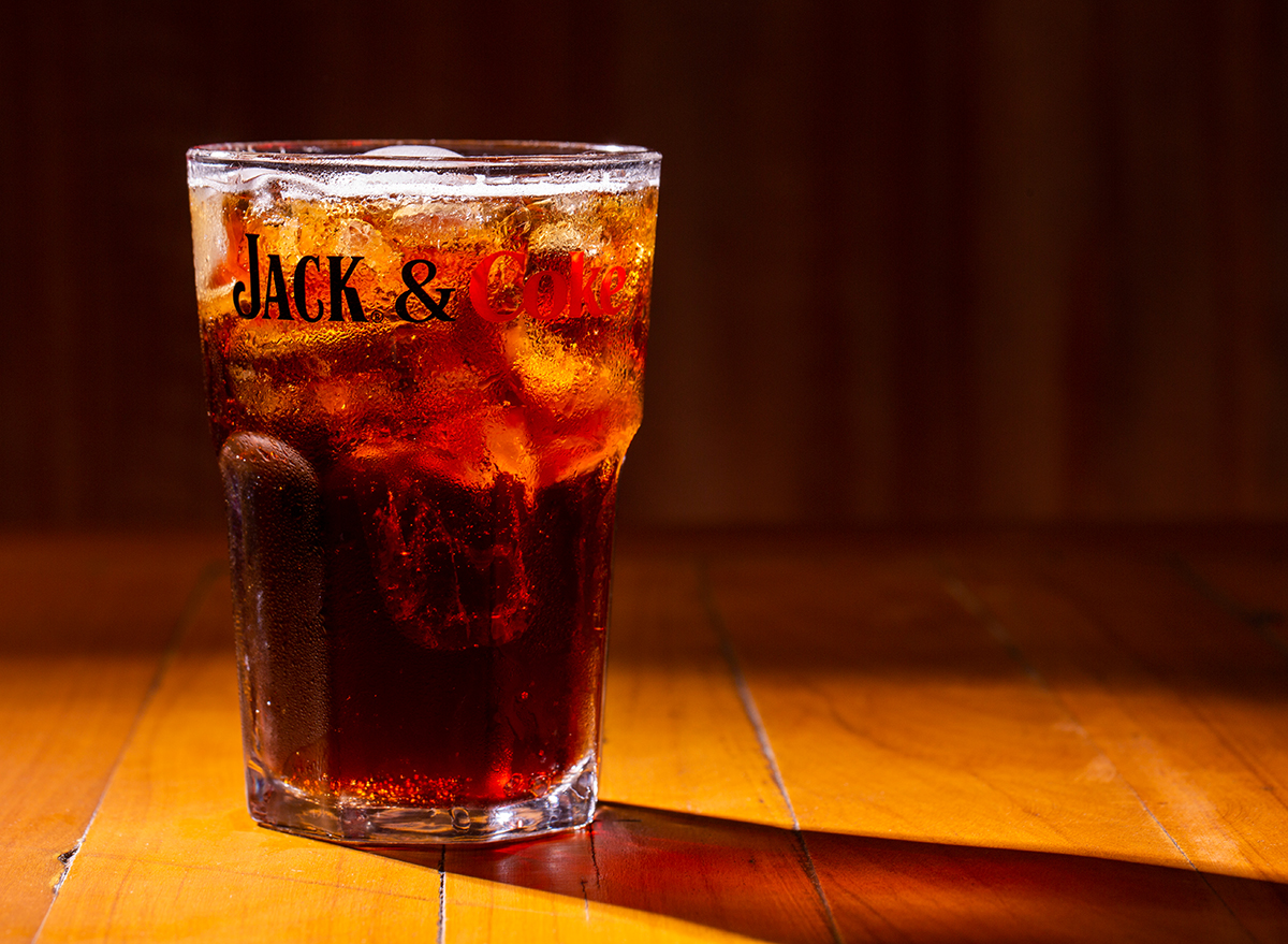 glass of jack and coke