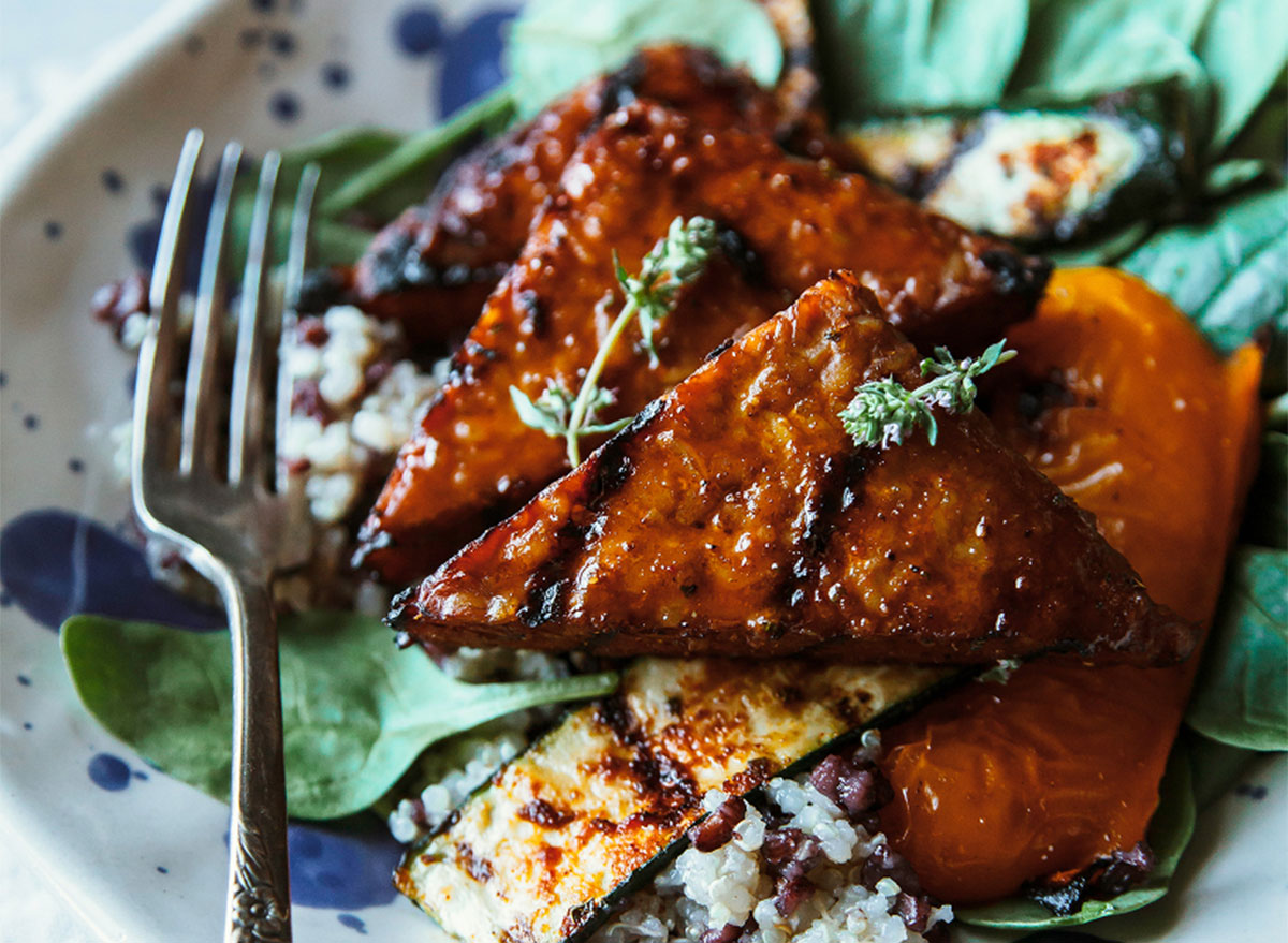 marindated grilled tempeh