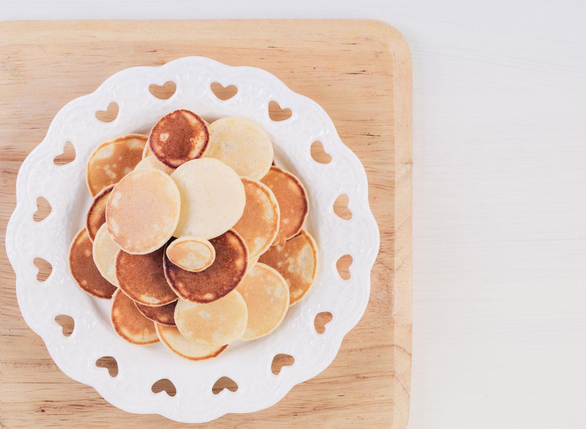 mini pancakes in bowl