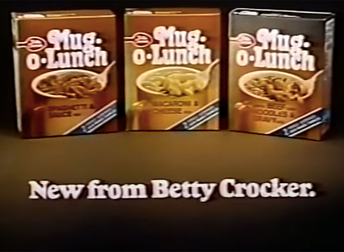 mug o lunch betty crocker boxes 1970s commercial