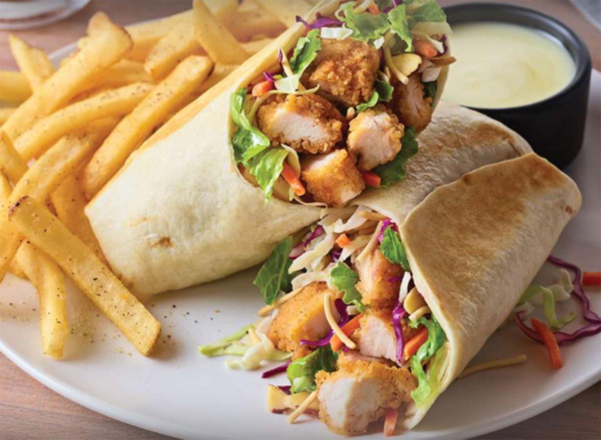 oriental chicken salad wrap