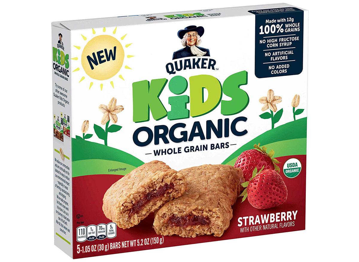Quaker kids strawberry bars