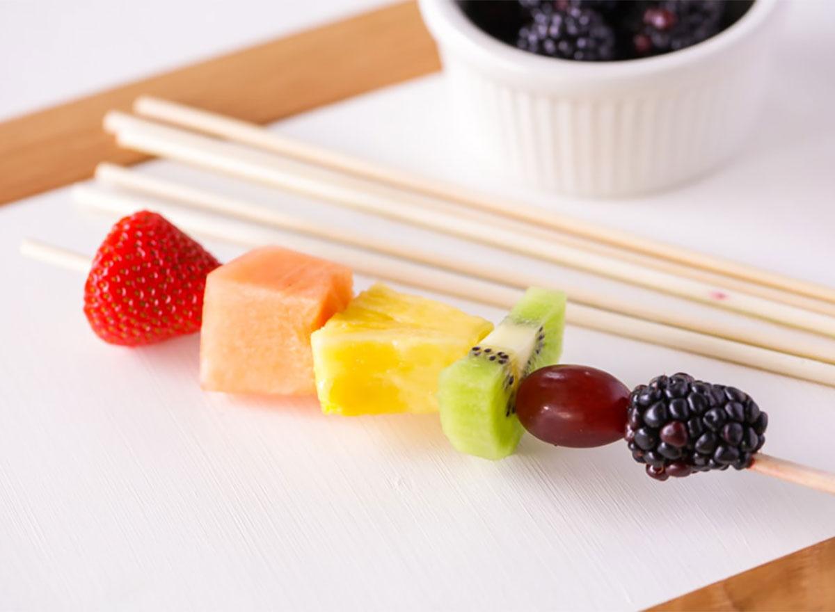 fruit kabob on stick