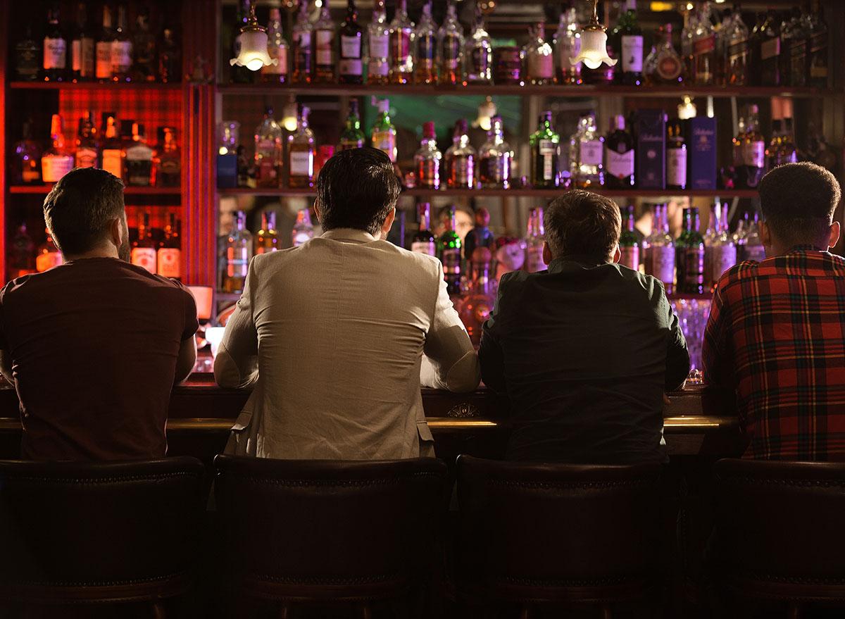 sitting in bar