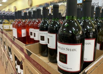 trader joes wine section