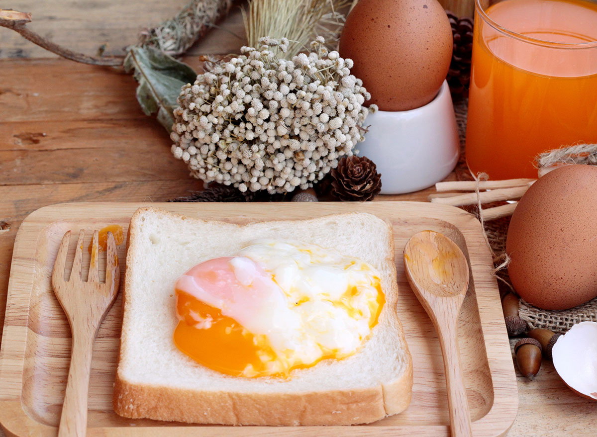 undercooked eggs