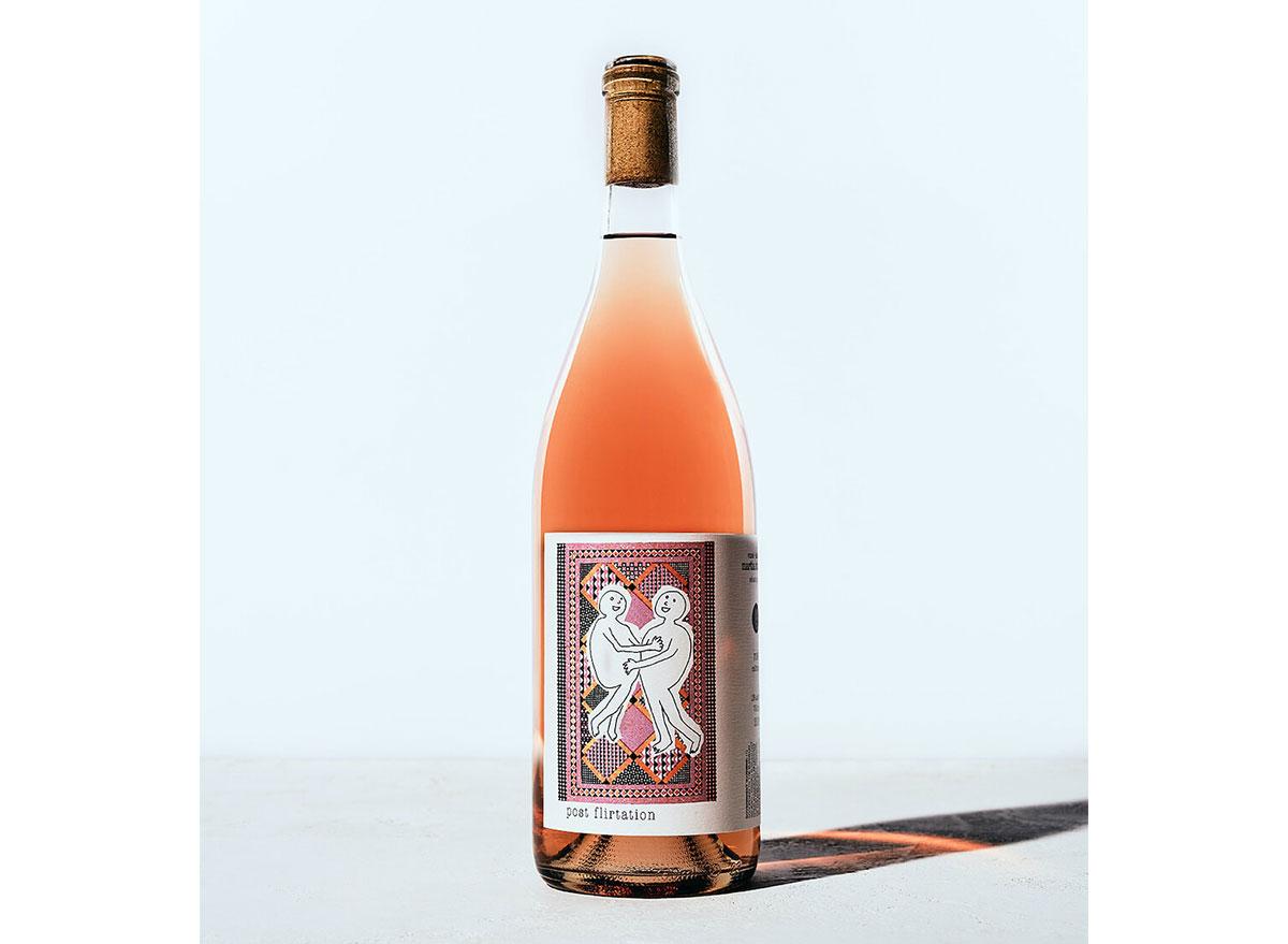 bottle of rose wine from 3 parks wine shop