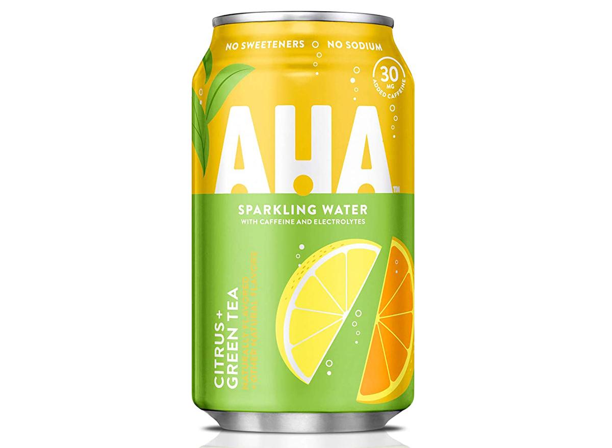 aha sparkling water citrus green tea