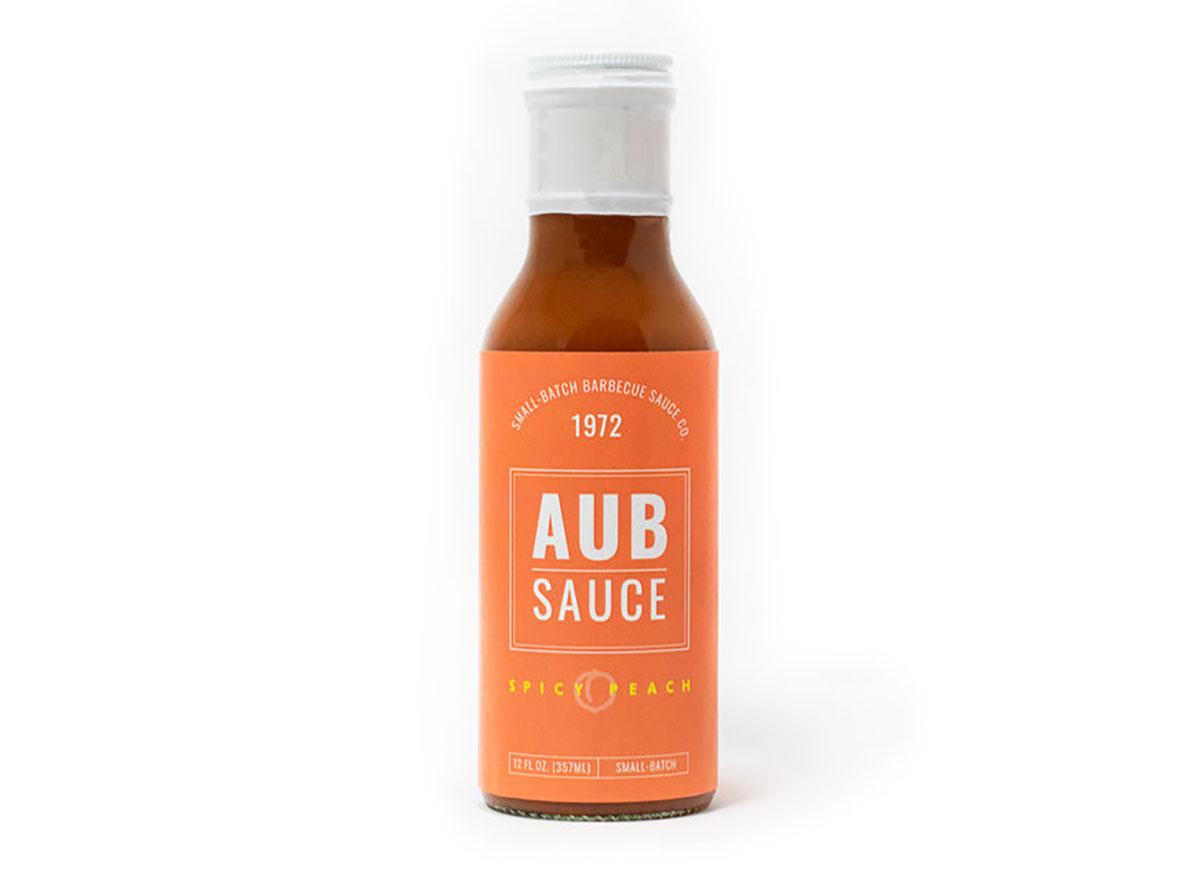 bottle of aubsauce bbq sauce