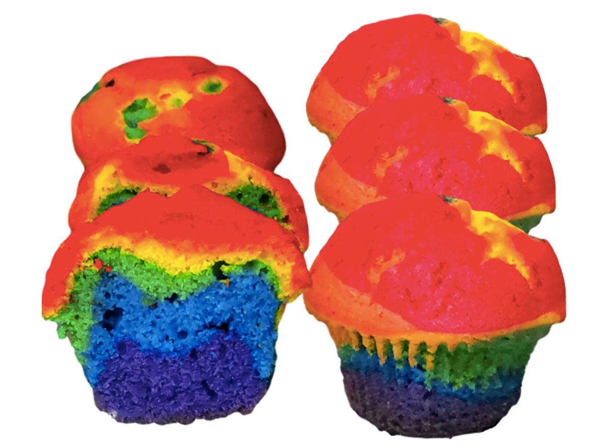 baked cravings rainbow cupcakes