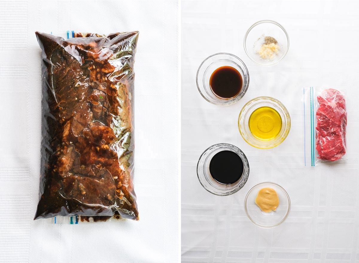 balsamic steak marinade with ingredients