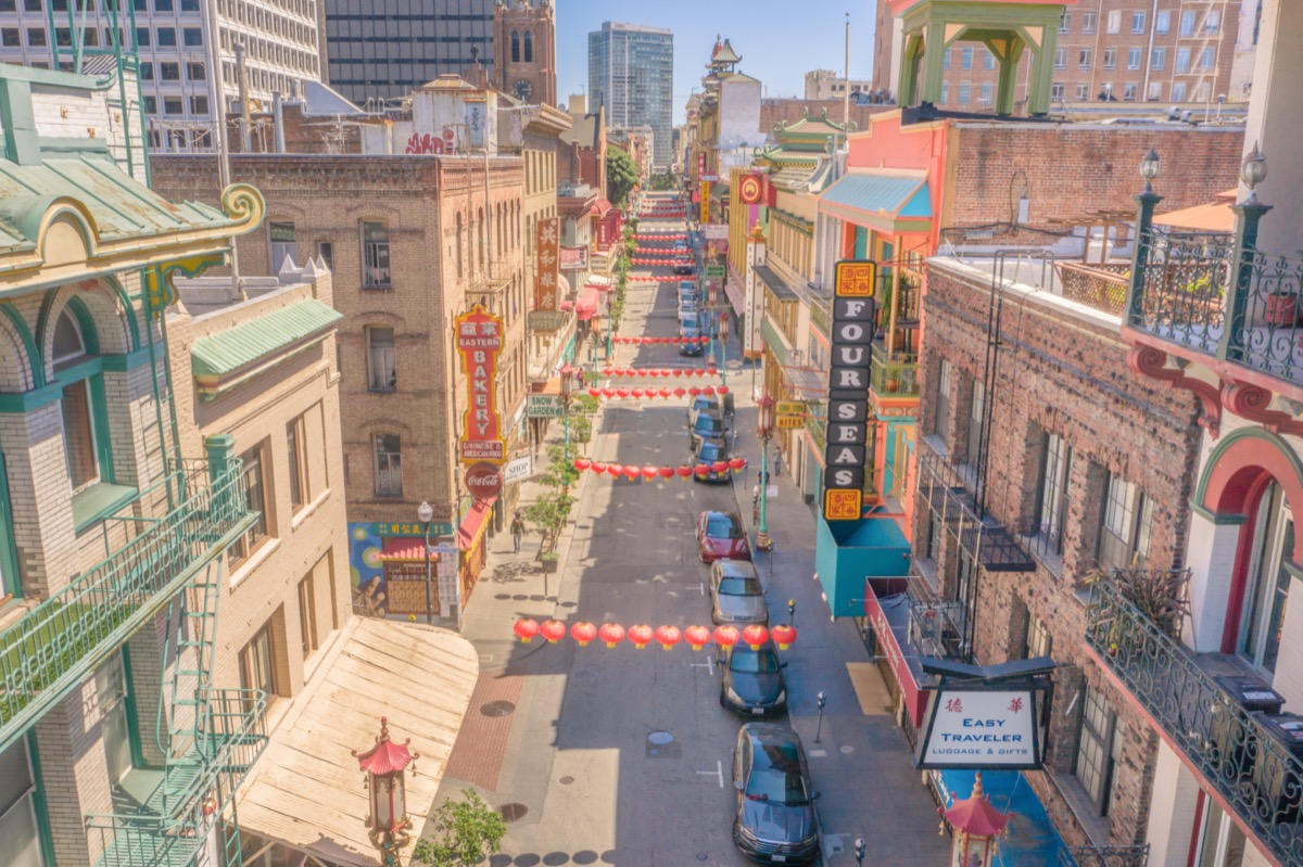 San Francisco, California / United States of America - 6/6/2020: San Francisco Chinatown Empty During Shelter in Place