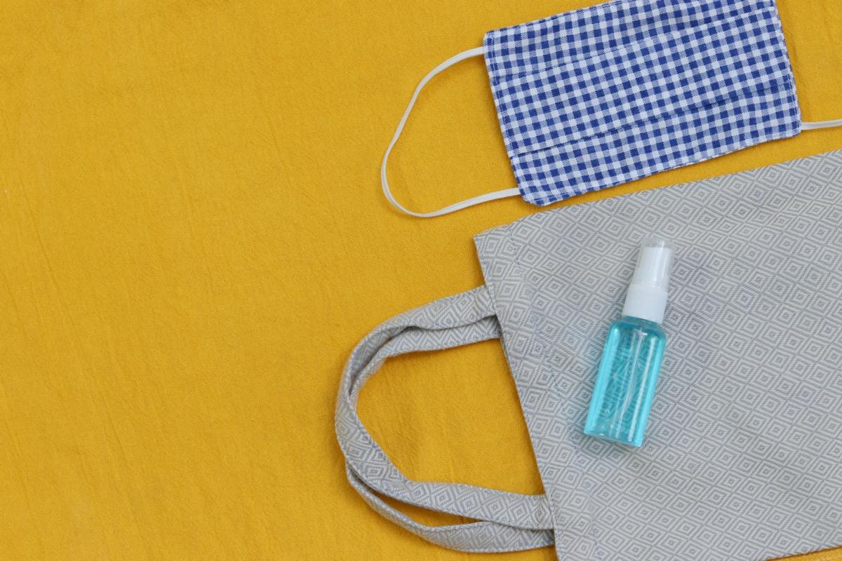 DIY fabric face mask ,hand sanitizer spray and cloth bag