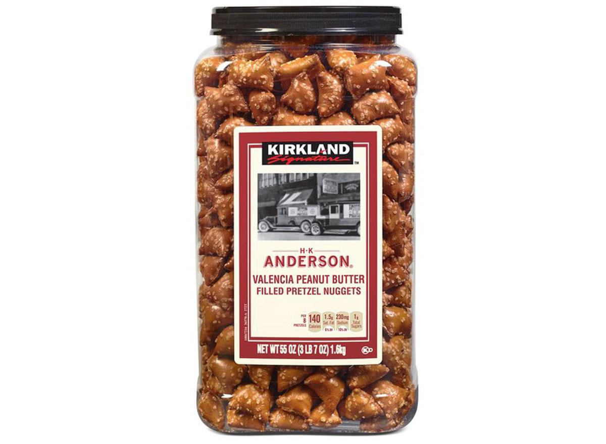 kirkland signature peanut butter filled pretzels from costco