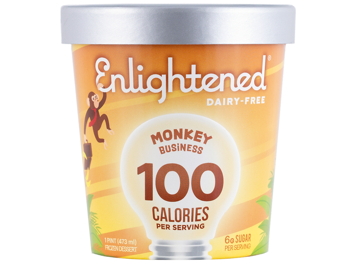 Enlightened dairy-free monkey business ice cream