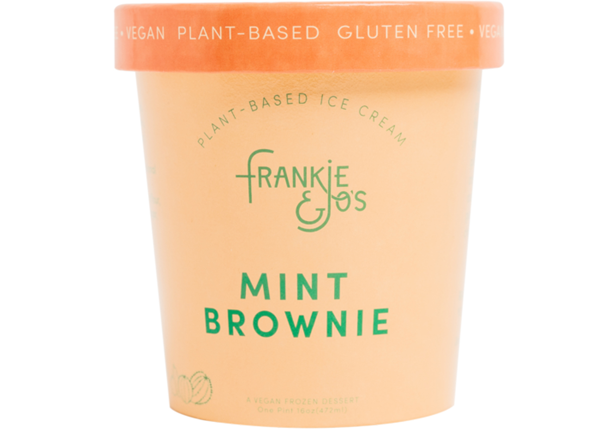 Frankie and joes mint brownie plant based ice cream