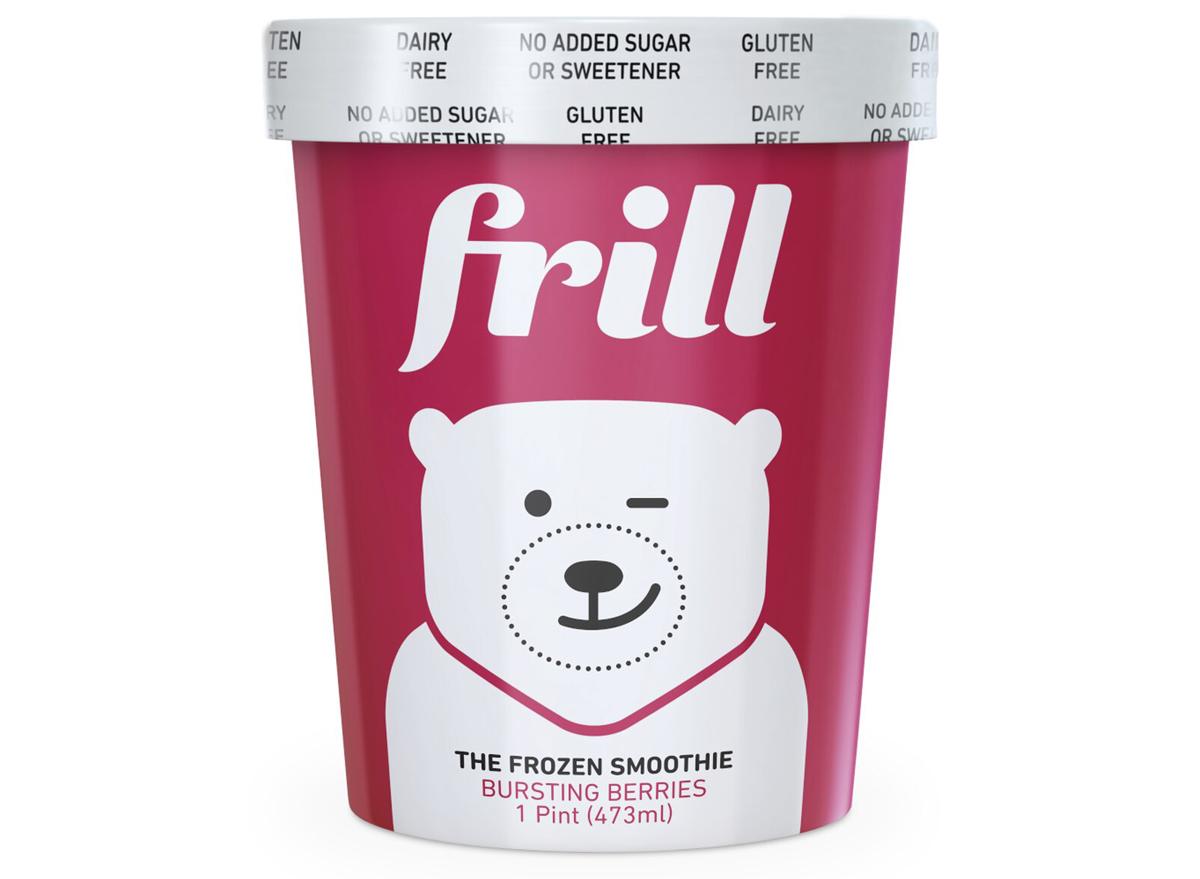 Frill bursting berries frozen smoothie vegan ice cream