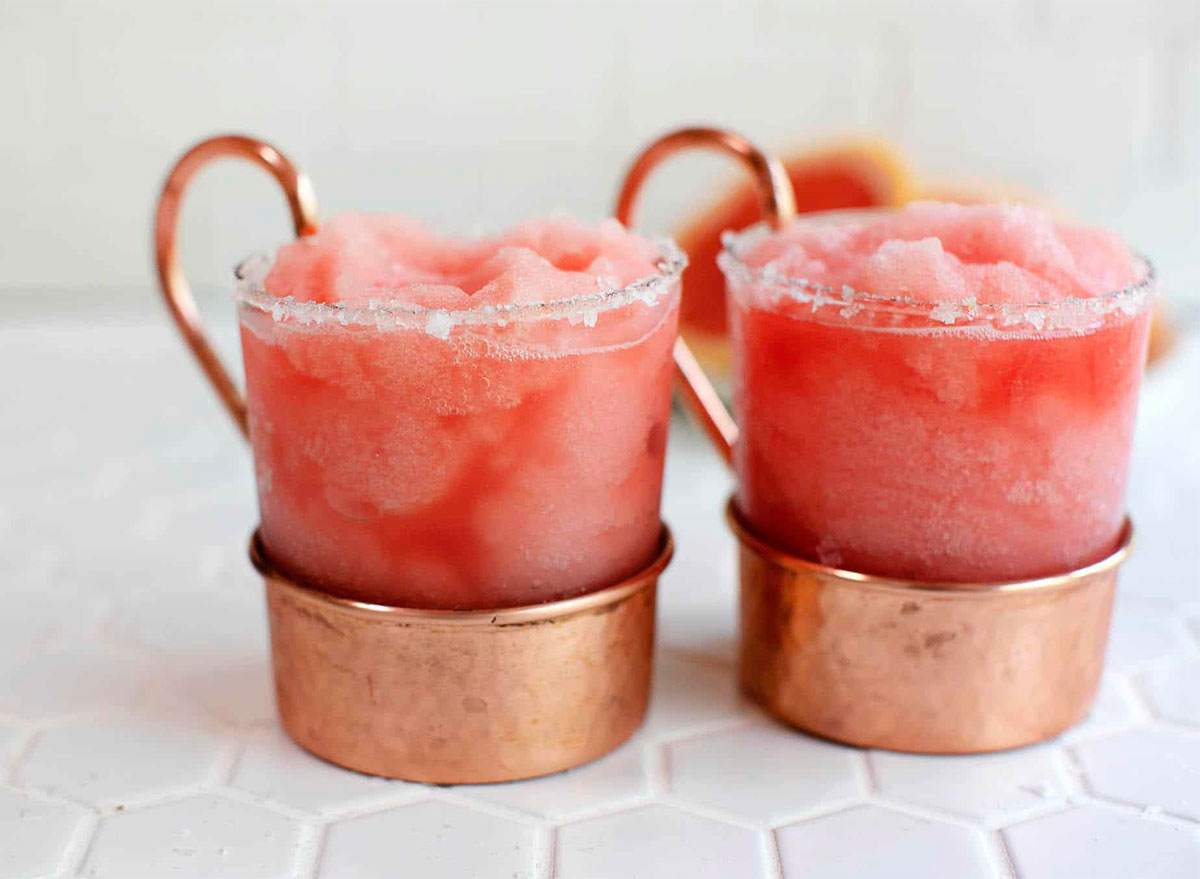frozen sweet and salty dog cocktails in glasses