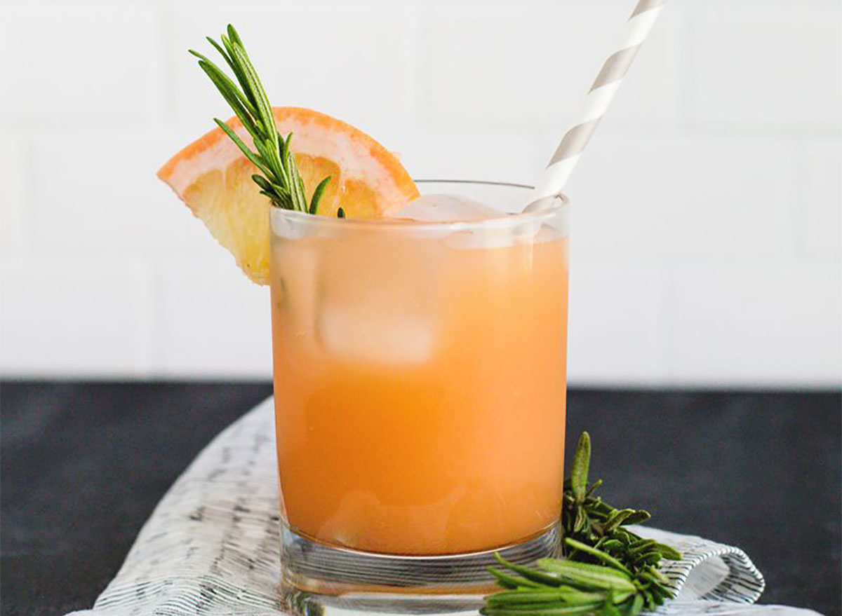 gin and grapefruit in a glass