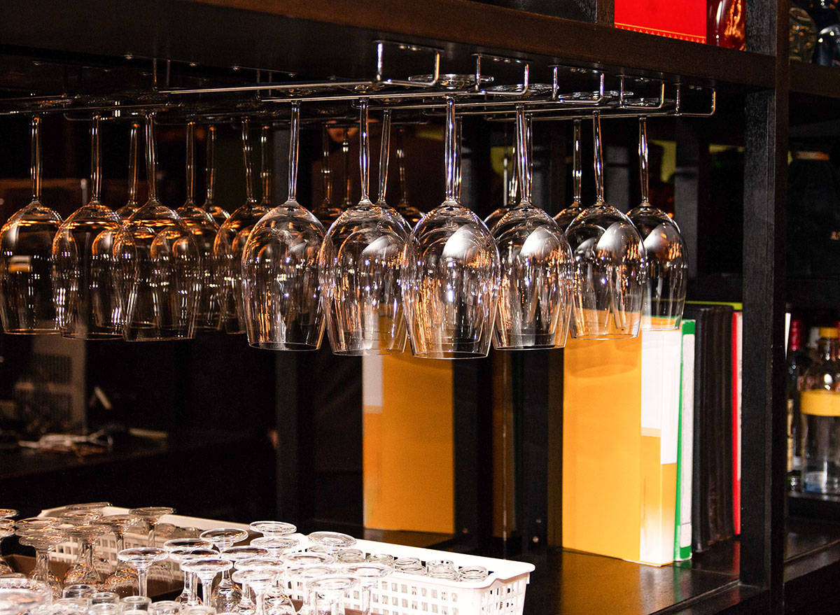 glassware cabinet