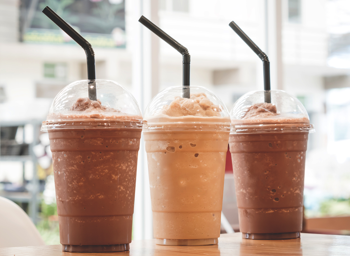 high sugar blended coffee drink