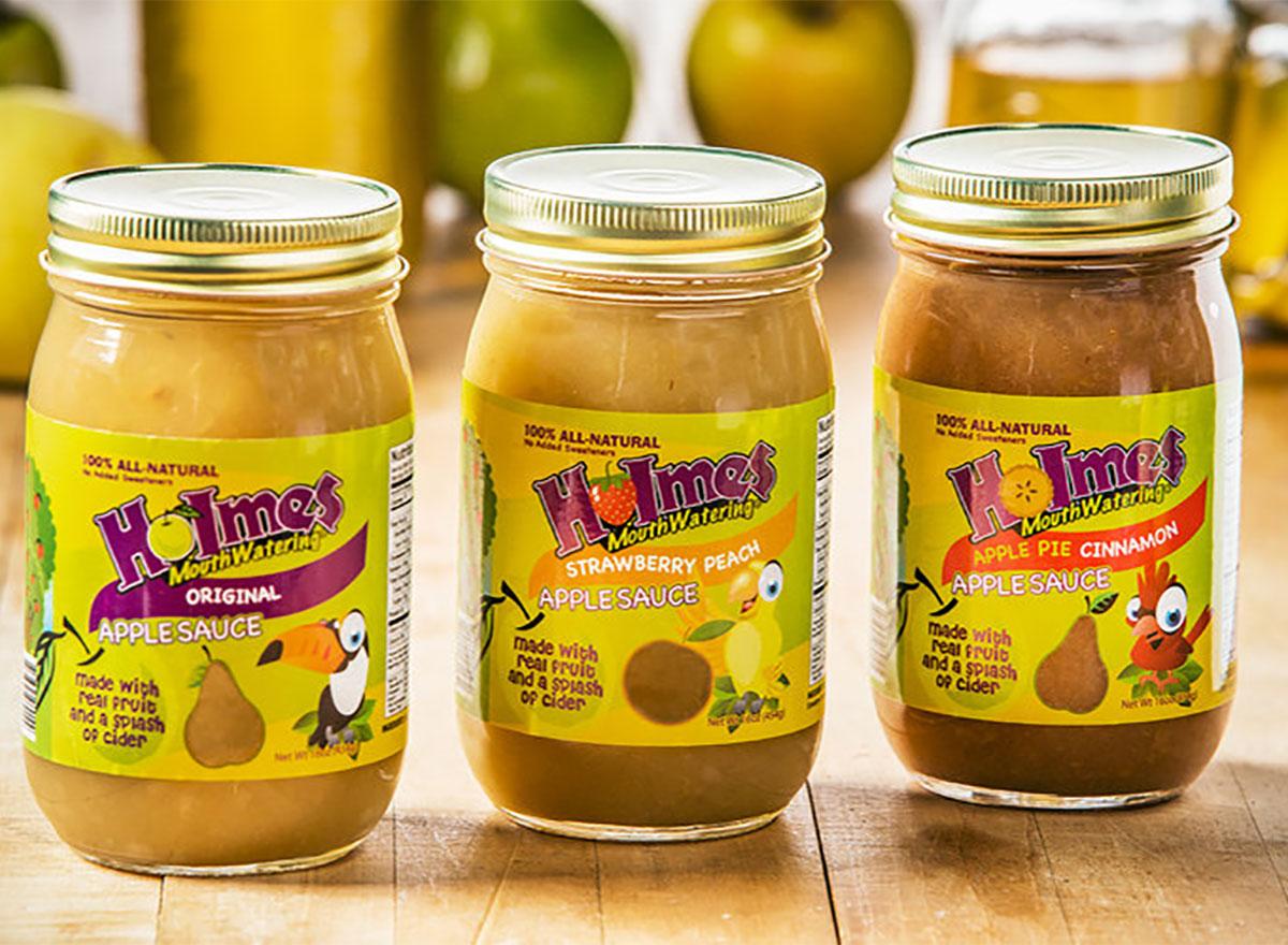 jars of holmes applesauce