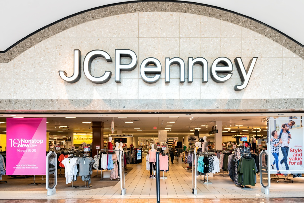 Entranace to JCPenney department outlet