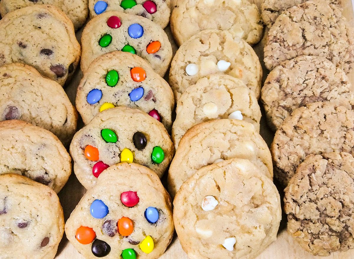 platter of assorted cookies from kays kookies