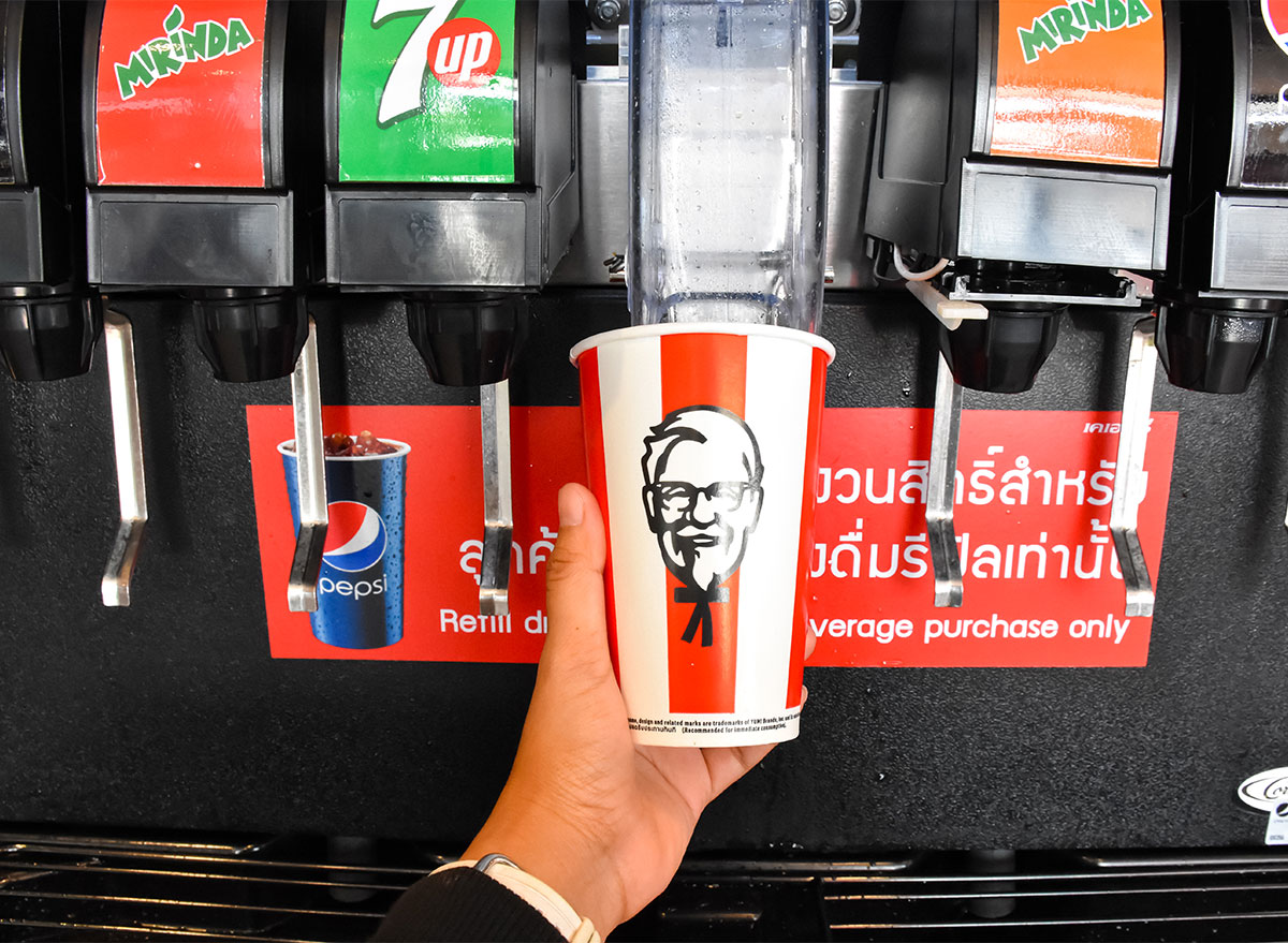 fountain drink station at kfc