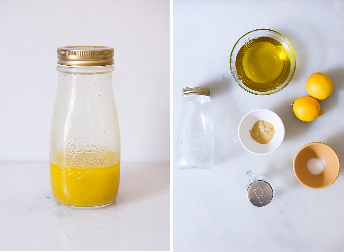 lemon vinaigrette with ingredients