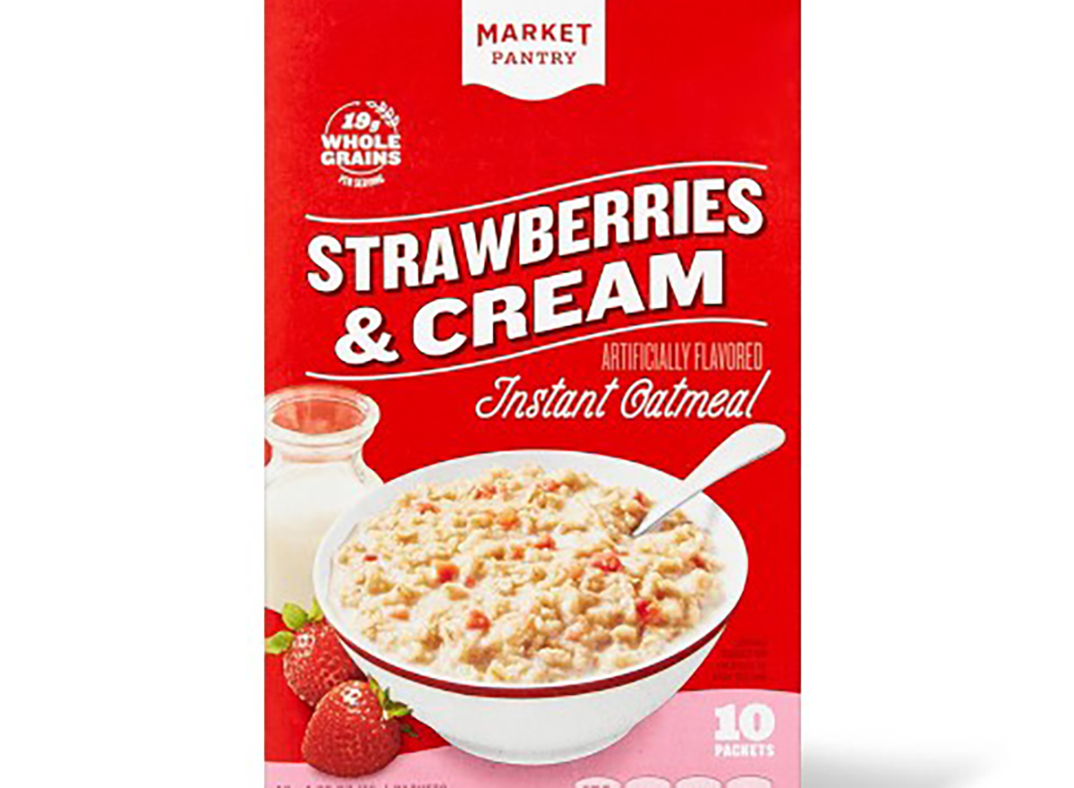 market pantry strawberries and cream instant oatmeal