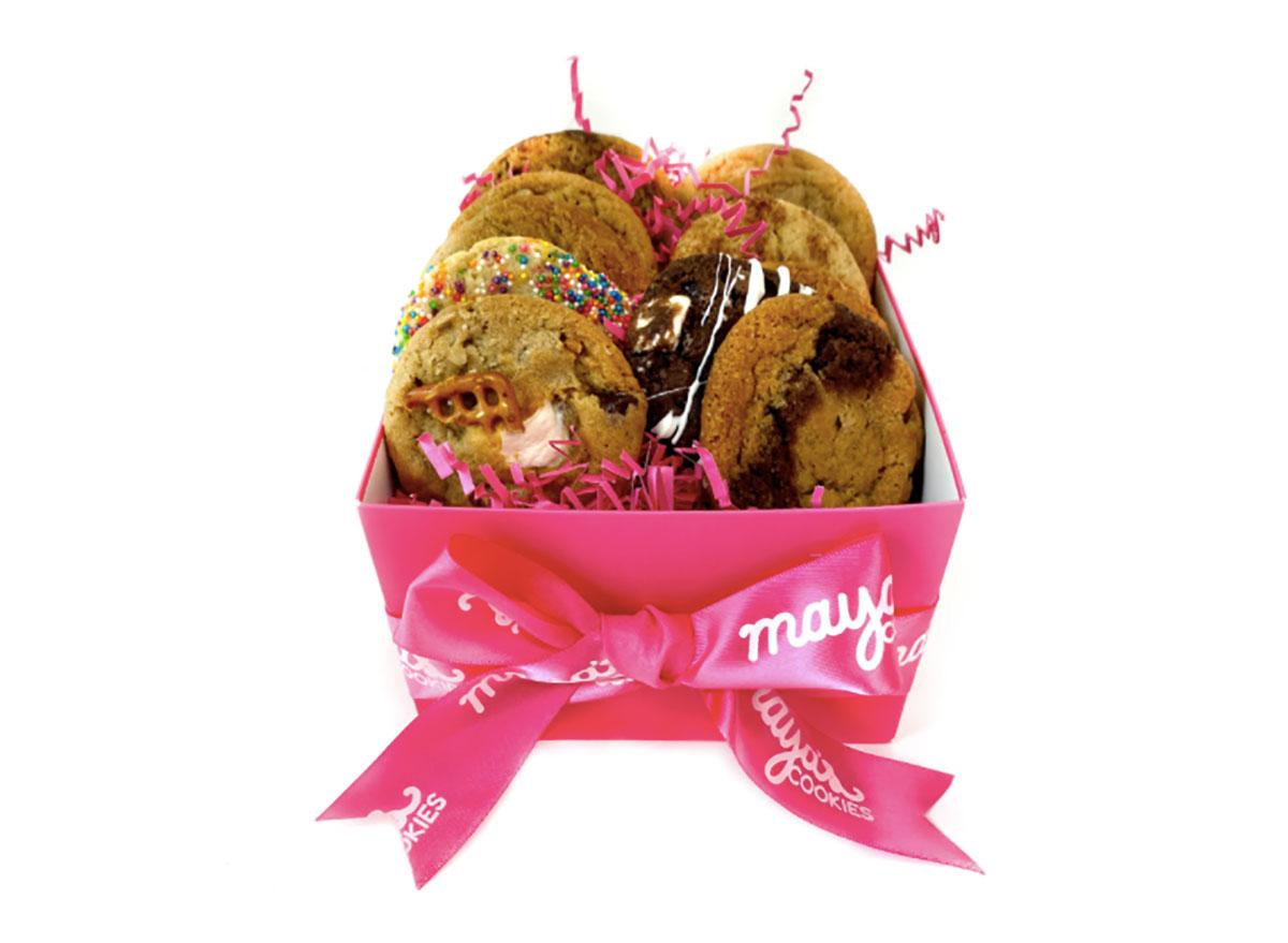 sampler box of maya's cookies