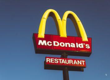 Mc Donalds sign.