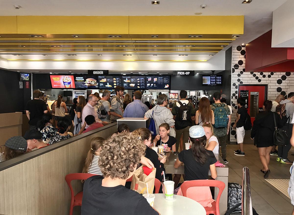 McDonalds dining hall