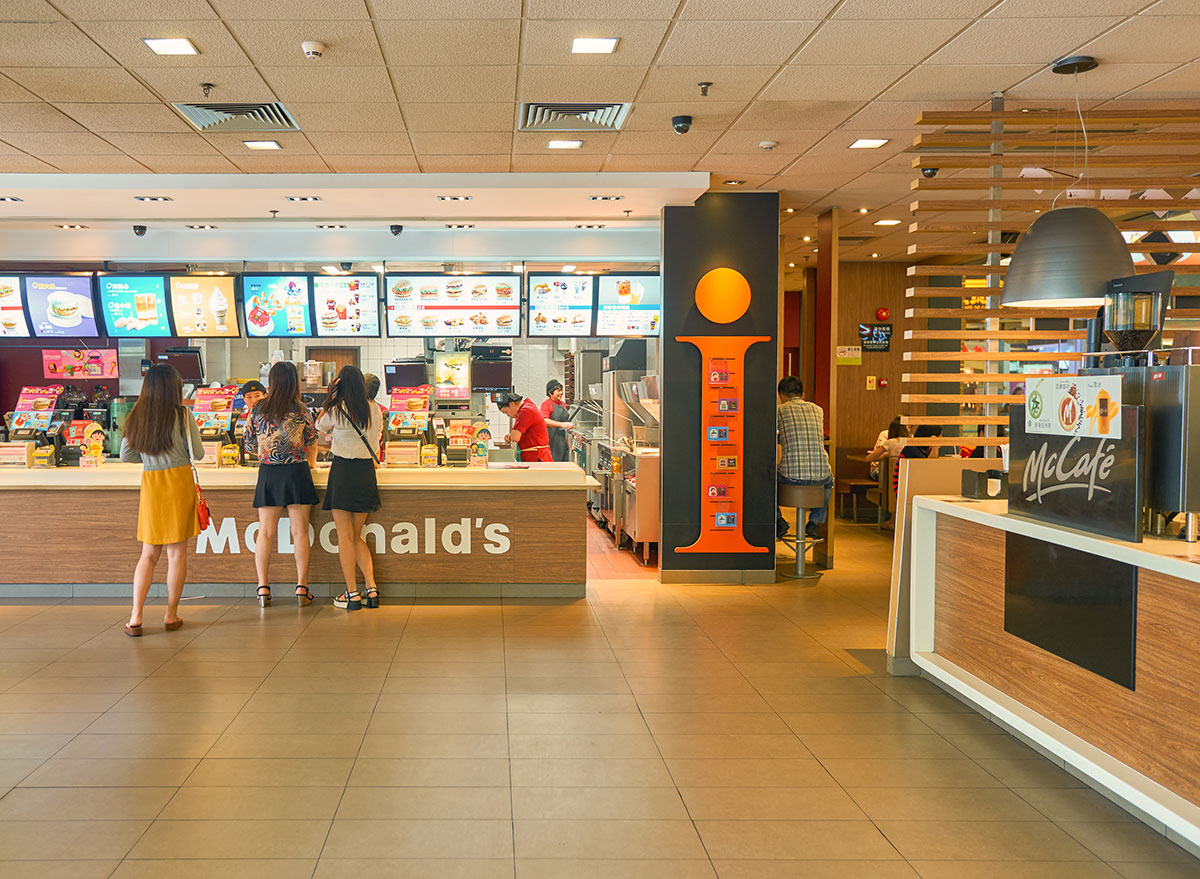 McDonalds menu board