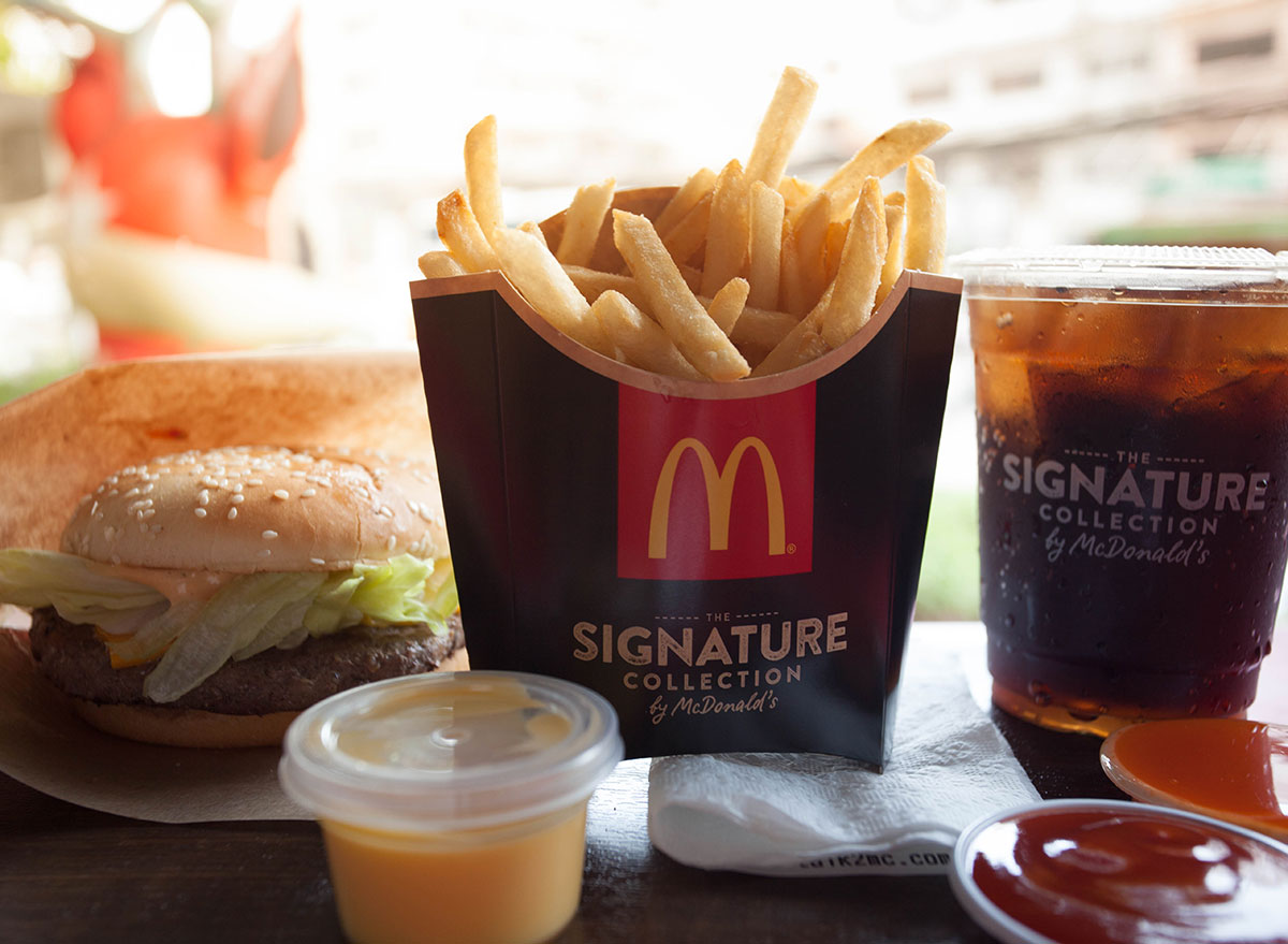 McDonalds signature meal