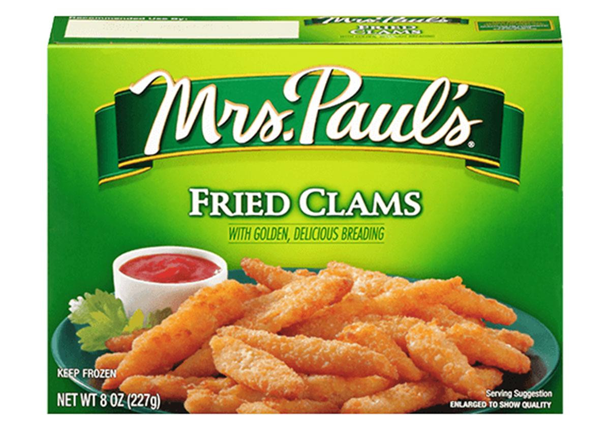 mrs pauls fried clams