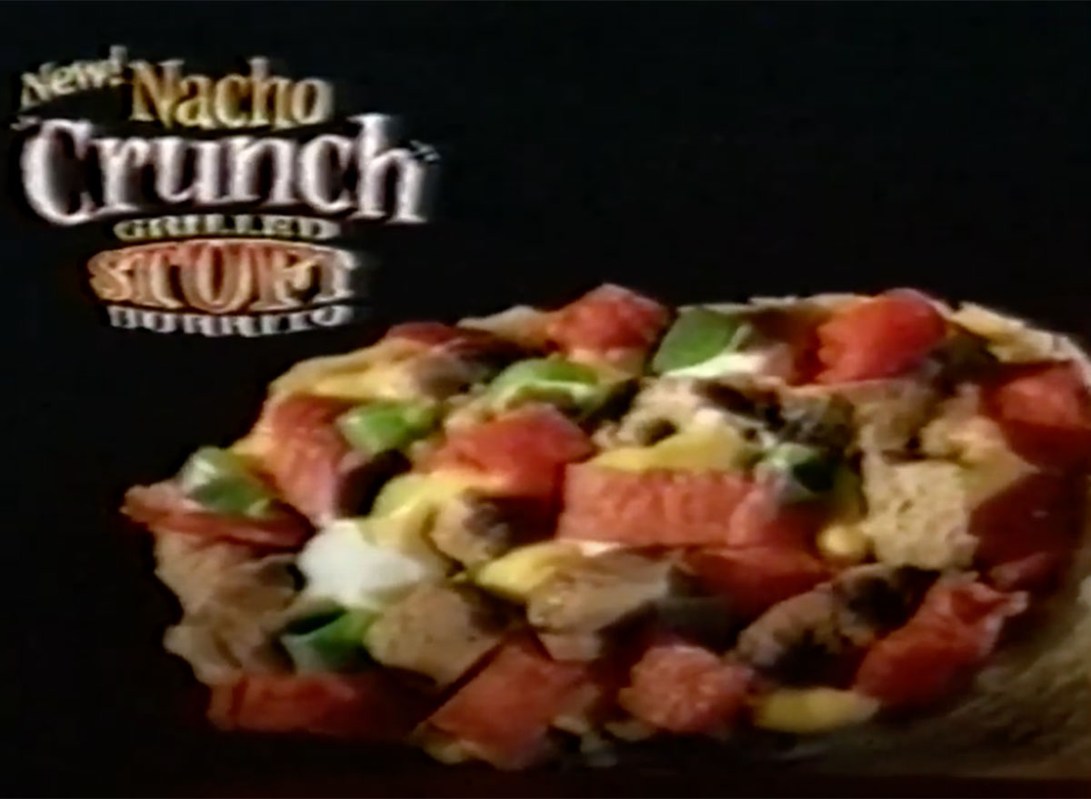 nacho crunch grilled burrito taco bell