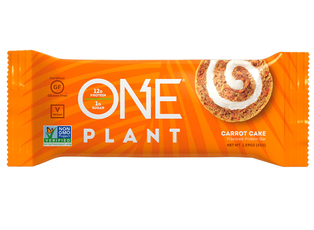 one plant carrot cake bar