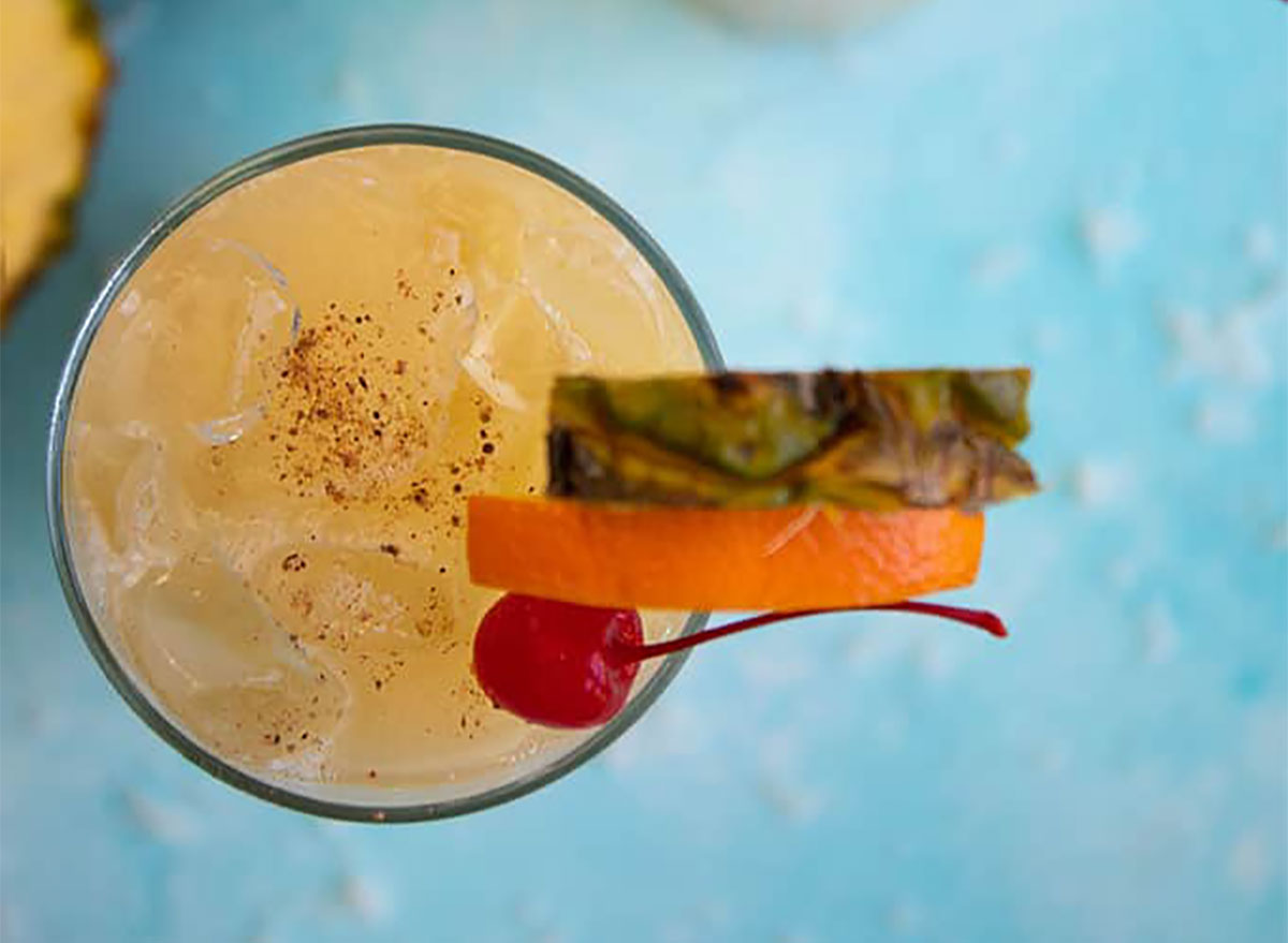 painkiller cocktail with garnish